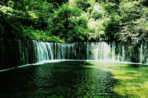 マイナスイオンたっぶりの滝