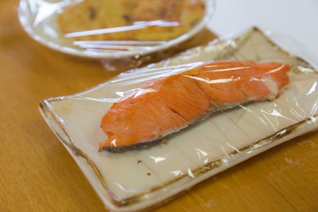 焼き鮭のラップ