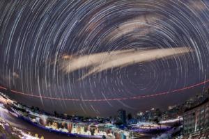 石垣島天文台の「街明かりを除外した星空」