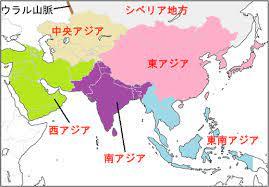 東アジアを示しているmap
