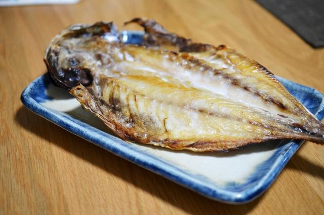 開きの魚を焼いた写真