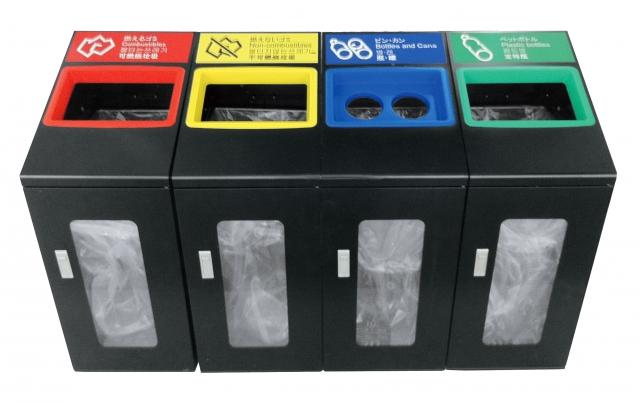 色分けされたゴミ箱