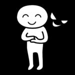 表の顔と裏の顔を持っている性格の悪い人のイラスト