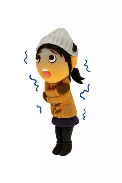 寒さで震えている人のイラスト