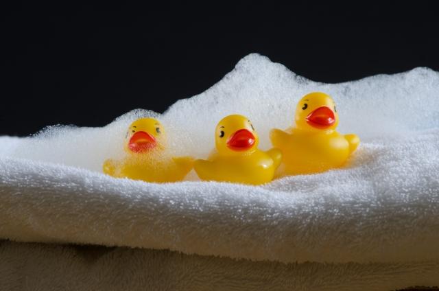 お風呂場のおもちゃ。よく乾かす
