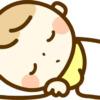 スヤスヤ寝ている赤ちゃんのイラスト
