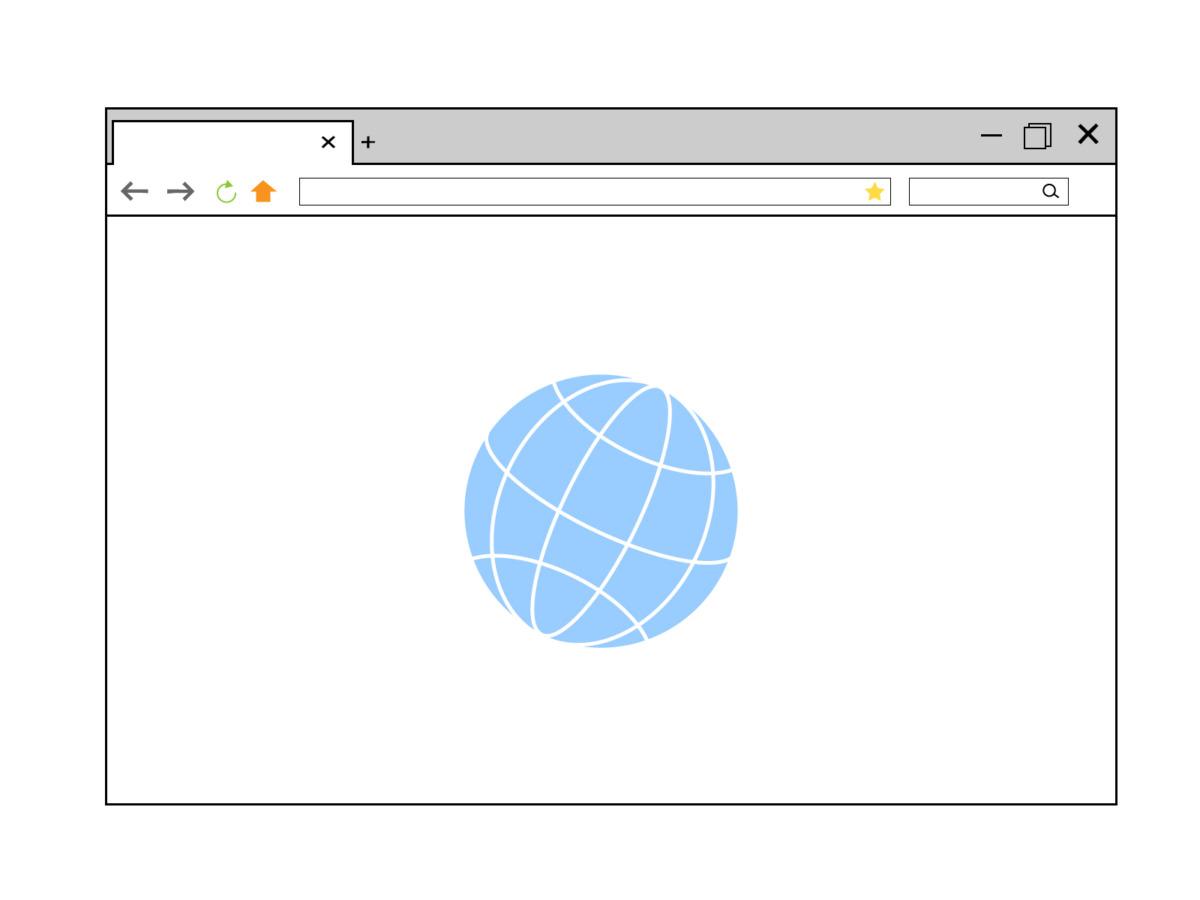 IEの画面例のイラスト