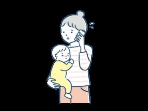 子どもが病気で会社に欠勤の電話をする母親